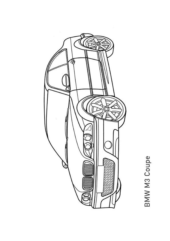 Раскраска купе BMW M3 | Транспорт | Чудо ребенок
