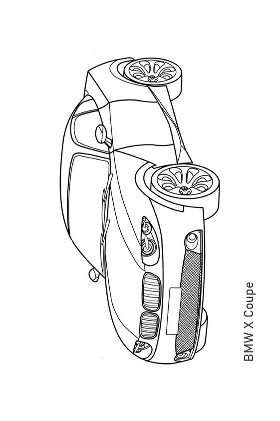 Раскраска концепт–кар BMW CS | Транспорт | Чудо ребенок