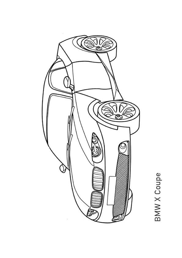Раскраска купе BMW X | Транспорт | Чудо ребенок