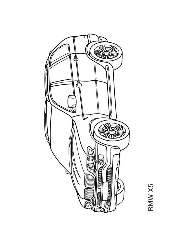 Раскраска кроссовер BMW X5 | Транспорт | Чудо ребенок