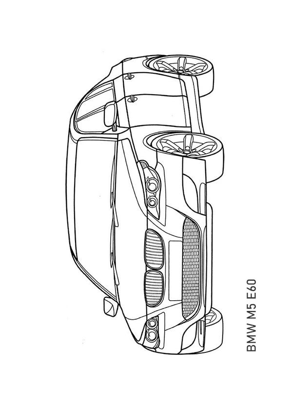 Раскраска седан BMW M5 E60 | Транспорт | Чудо ребенок