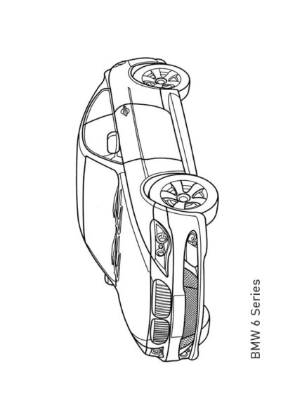 Раскраска фастбэк BMW 6 Series | Транспорт | Чудо ребенок