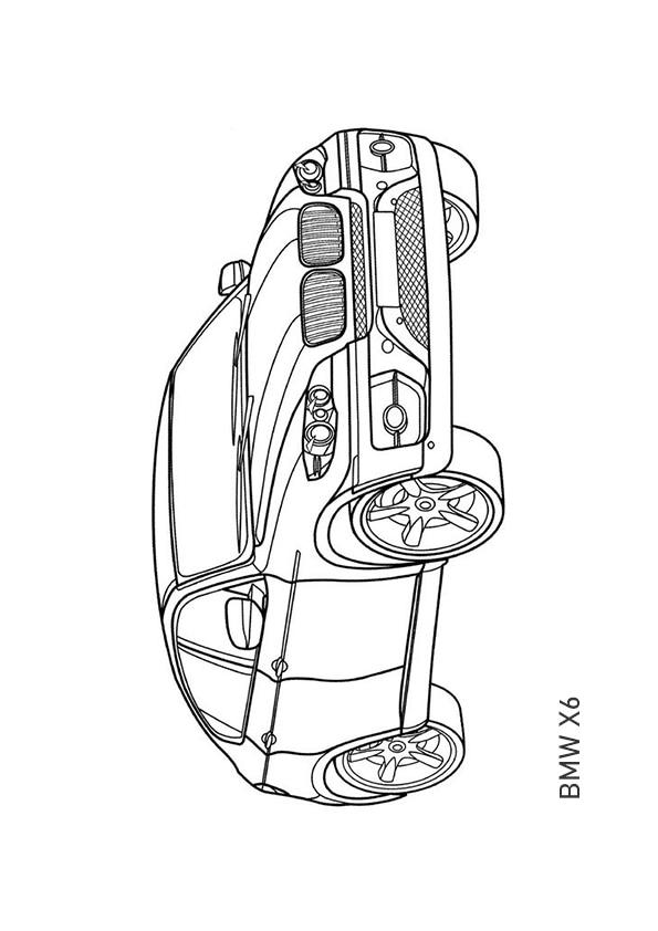 Раскраска внедорожное купе BMW X6 | Транспорт | Чудо ребенок
