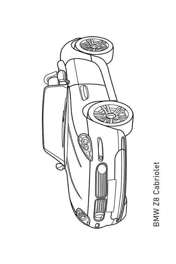 Раскраска кабриолет BMW Z4 | Транспорт | Чудо ребенок