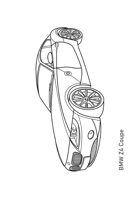 Раскраска купе BMW Z4 | Транспорт | Чудо ребенок