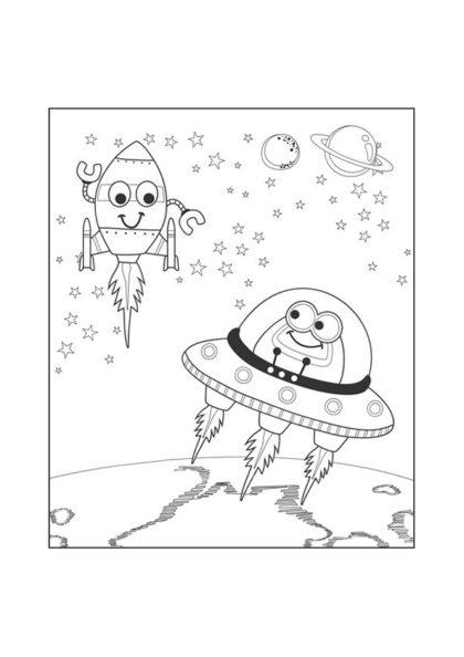 Раскраска встреча с инопланетянином скачать или распечатать