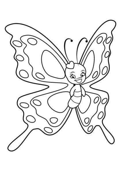 Раскраска чаровница бабочка с сердечком | Чудо ребенок