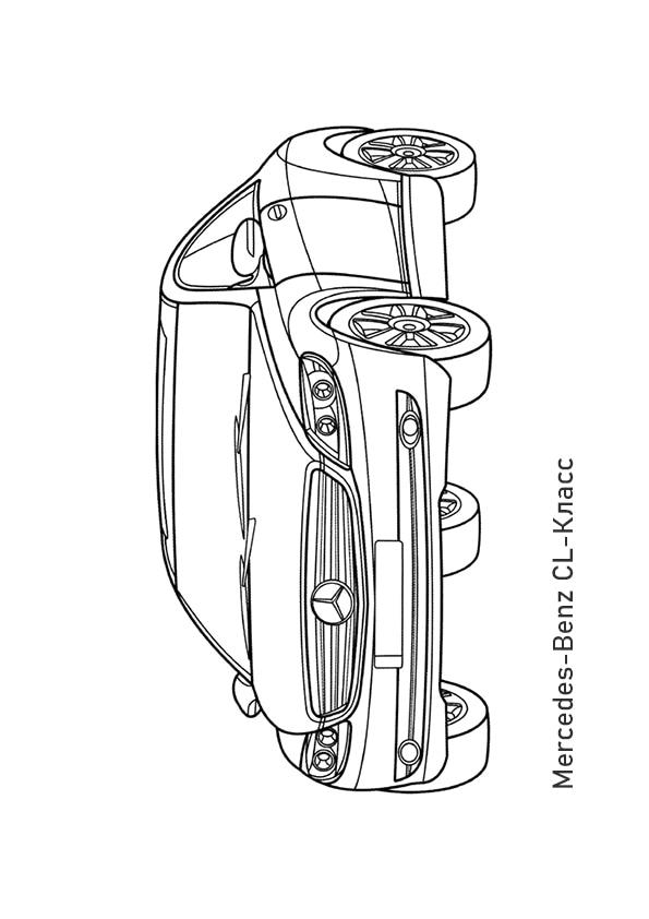 Раскраска купе Mercedes-Benz CL500 | Транспорт | Чудо ребенок