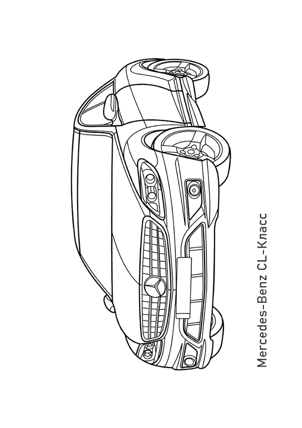Раскраска купе Mercedes-Benz CL65 AMG | Транспорт | Чудо ...