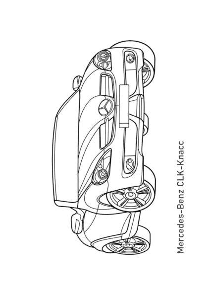 Раскраска кабриолет Mercedes-Benz CLK-Класс | Чудо ребенок