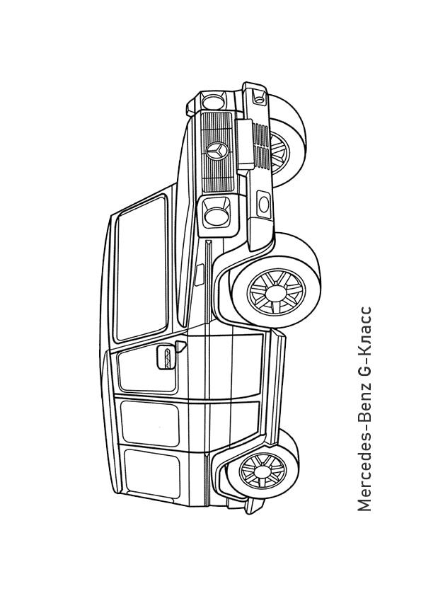 Раскраска внедорожник Mercedes-Benz G-Класс | Чудо ребенок