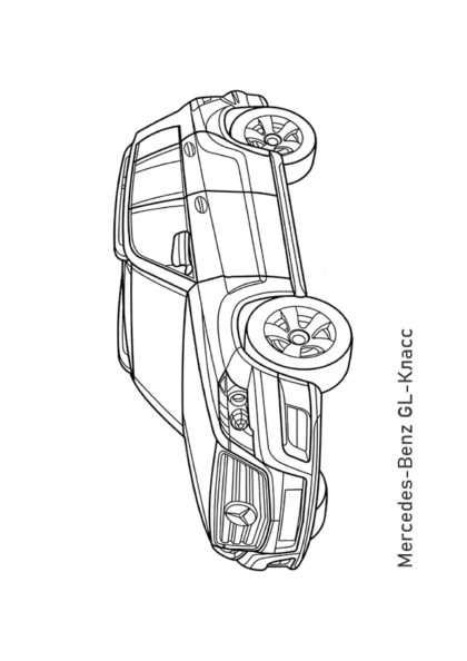 Раскраска кроссовер Mercedes-Benz GL-Класс |Чудо ребенок