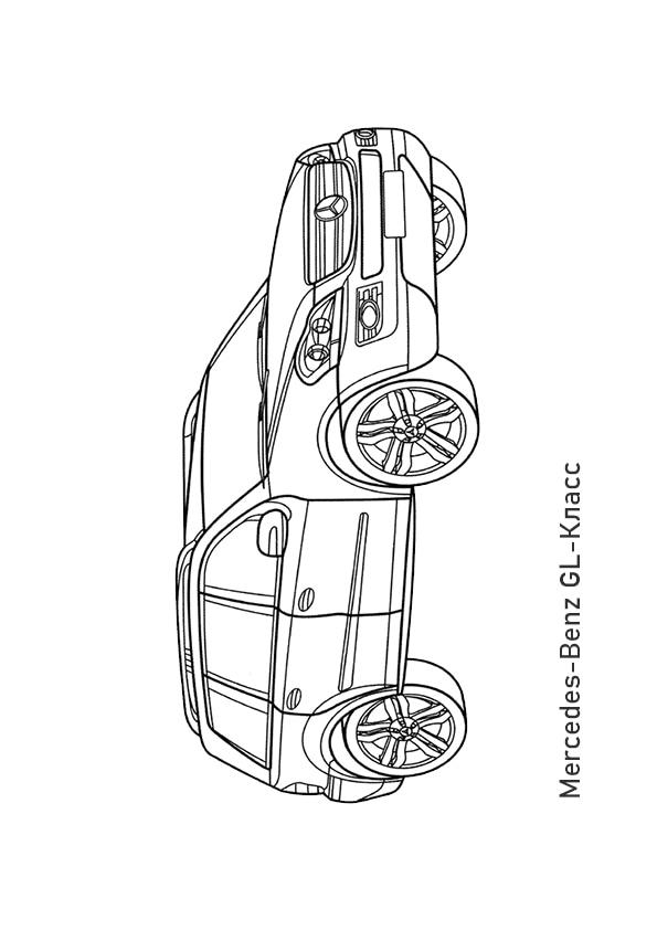 Раскраска кроссовер Mercedes-Benz GL320 CDI | Чудо ребенок