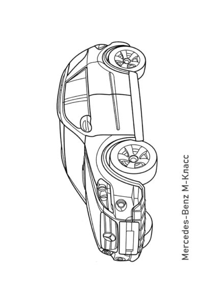 Раскраска кроссовер Mercedes-Benz M-Класс | Чудо ребенок