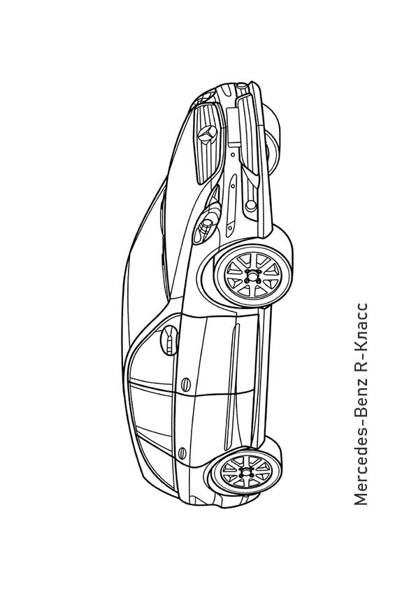 Раскраска минивэн Mercedes-Benz R-Класс | Транспорт | Чудо ...