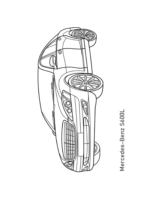 Раскраска седан Mercedes-Benz S-Класс 600L | Чудо ребенок