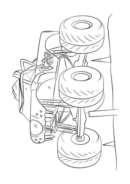 Раскраска Taz Монстр–грузовик   Monster Truck   Чудо ребенок