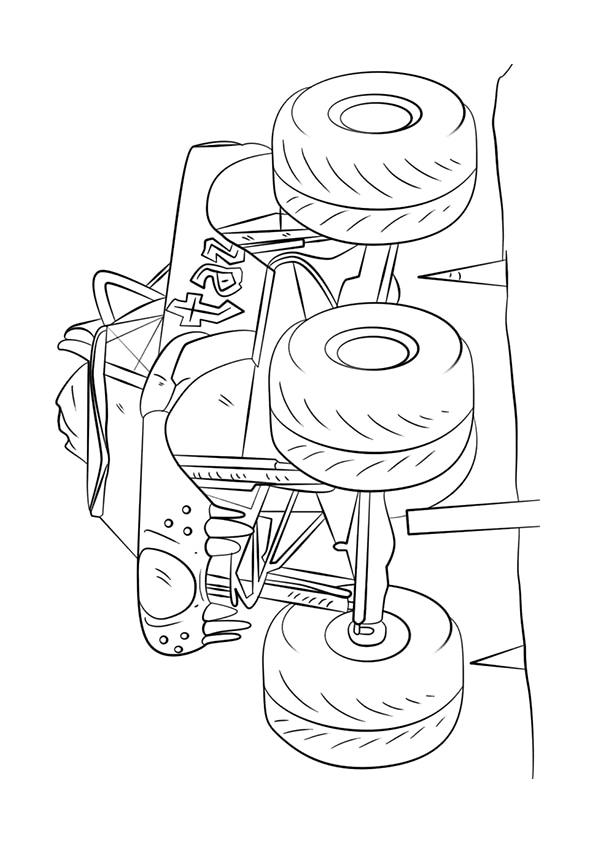 Раскраска Taz Монстр–грузовик | Monster Truck | Чудо ребенок
