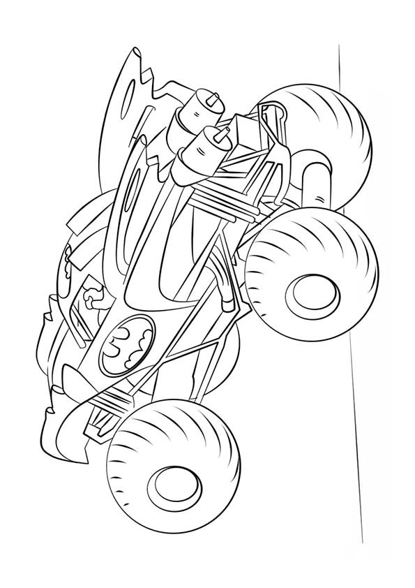Monster Truck – раскраски для детей скачать или распечатать