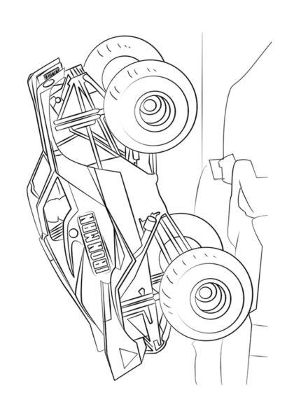 Раскраска Ironman Монстр–грузовик | Monster Truck | Чудо ...