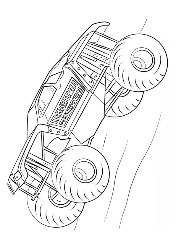 Раскраска Maximum Destruction Монстр–грузовик   Чудо ребенок