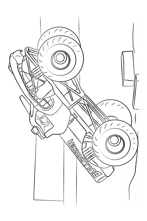 Раскраска Max–D Монстр–грузовик | Monster Truck | Чудо ребенок