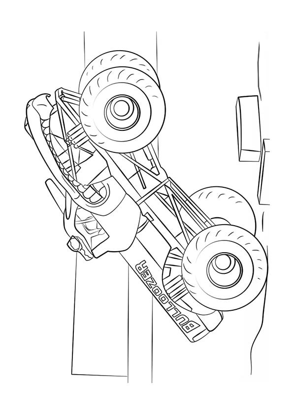 Раскраска Bulldozer Монстр–грузовик   Чудо ребенок