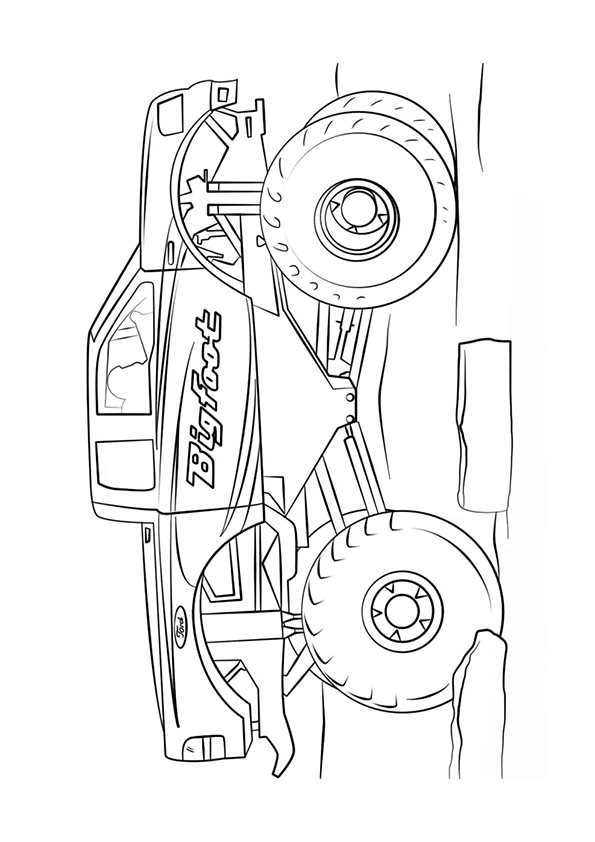 Раскраска Bigfoot Монстр–грузовик   Monster Truck   Чудо ...