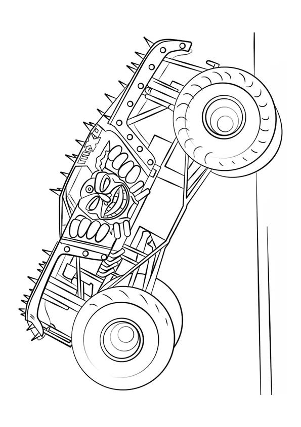 Раскраска Max–D Монстр–грузовик   Monster Truck   Чудо ребенок