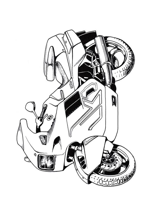 Раскраска мотоцикл BMW   Мотоциклы   Чудо ребенок