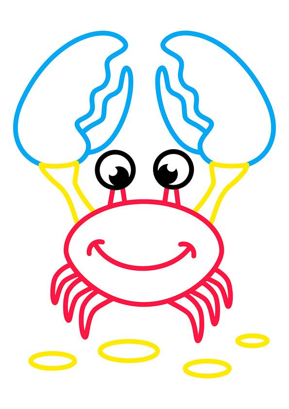 Раскраска Крабик   Раскраски по цветам   Чудо ребенок