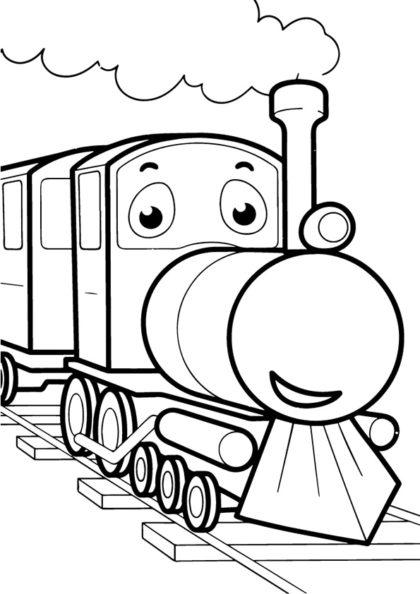 Раскраска паровоз   Виды транспорта   Чудо ребенок