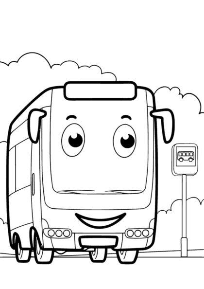 Раскраска автобус   Виды транспорта   Чудо ребенок