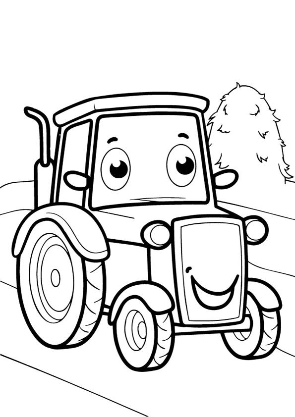 Raskraska Traktor Vidy Transporta Chudo Rebenok