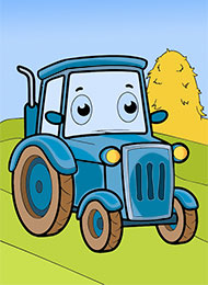 Раскраски для малышей «Виды транспорта» скачать или распечатать