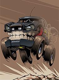 Раскраски для детей Monster Truck скачать или распечатать