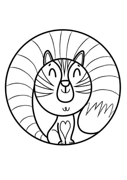 Раскраска Котик мурлыкает   Мандалы зверушек   Чудо ребенок