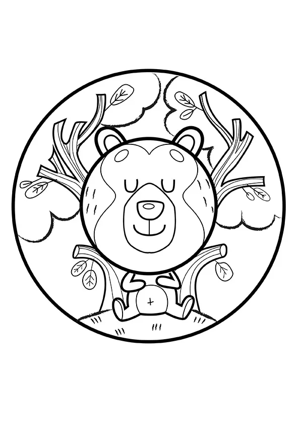 Раскраска Мишутка спит   Мандалы зверушек   Чудо ребенок