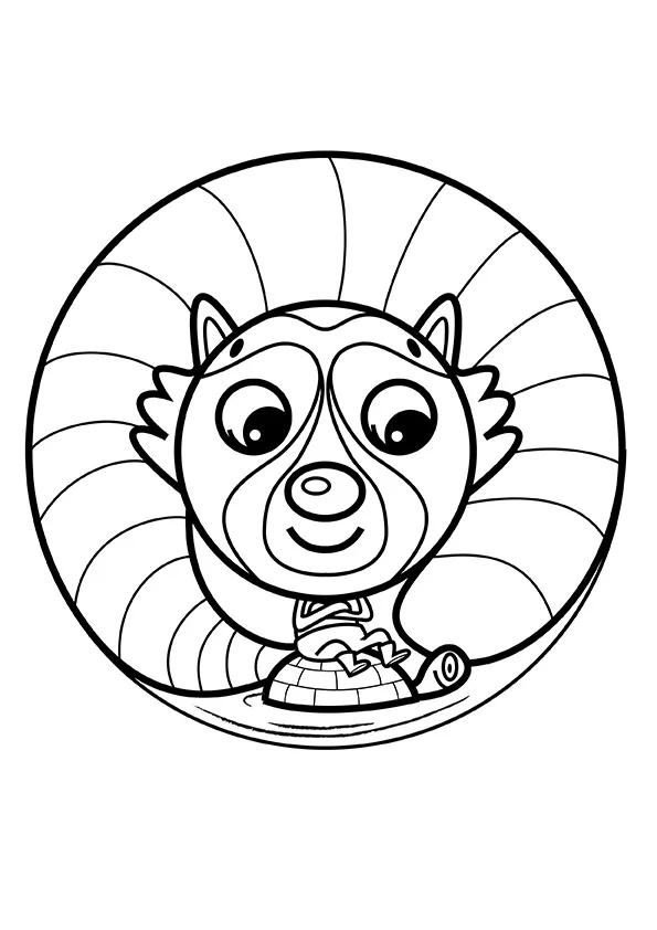 Раскраска Енотик и черепаха | Мандалы зверушек | Чудо ребенок