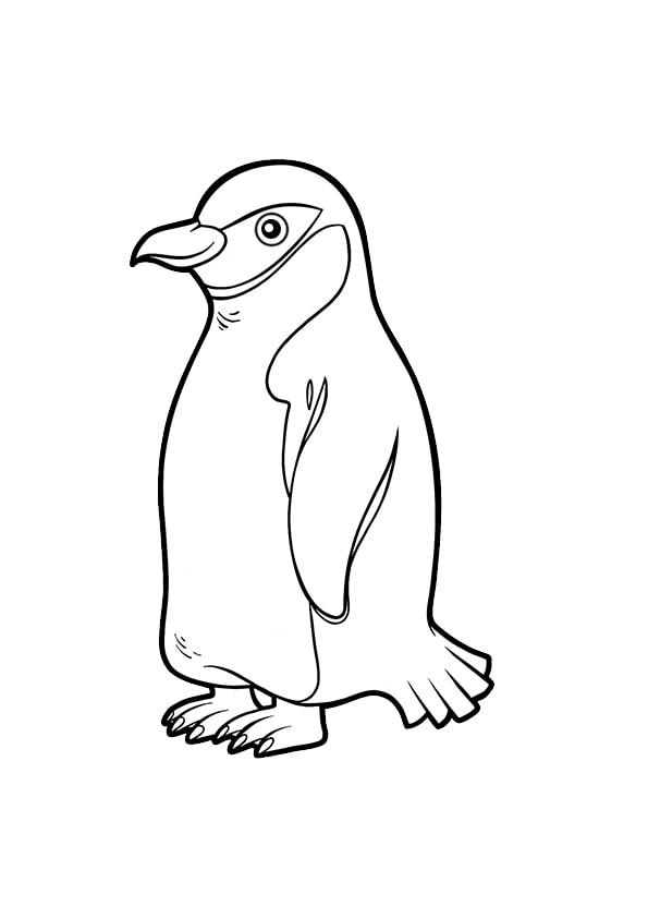Раскраска для малышей Антарктический пингвин | Чудо ребенок