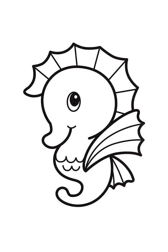 Раскраска Маленькая морская звезда | Подводный мир | Чудо ...