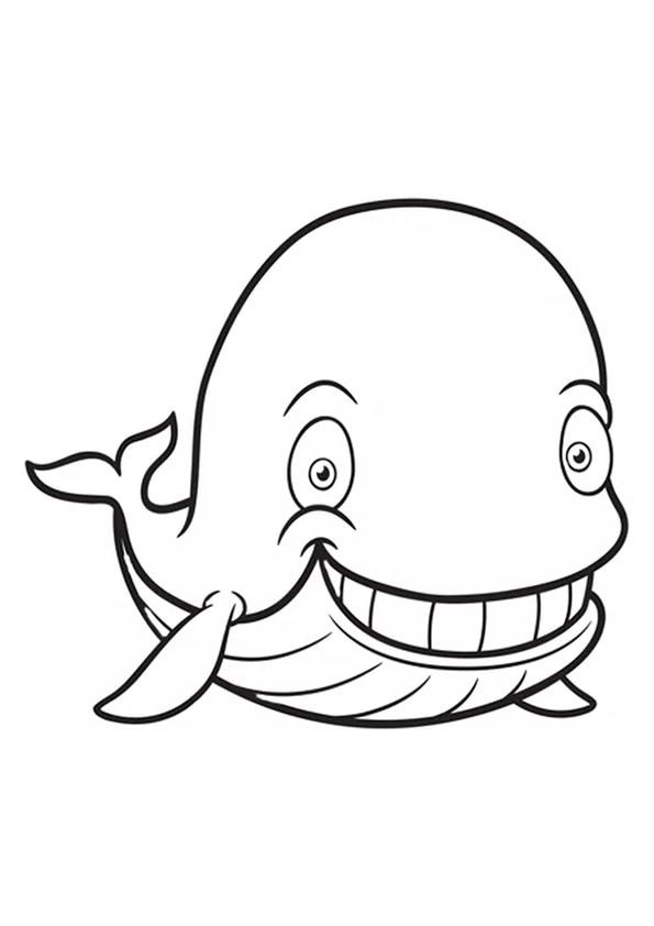 Раскраска Счастливый кит | Подводный мир | Чудо ребенок