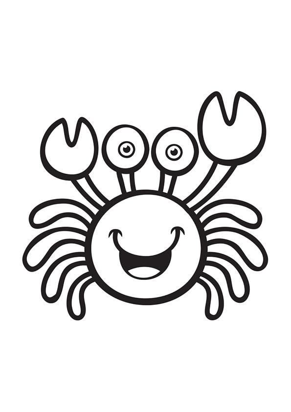 Раскраска Милый краб | Подводный мир | Чудо ребенок