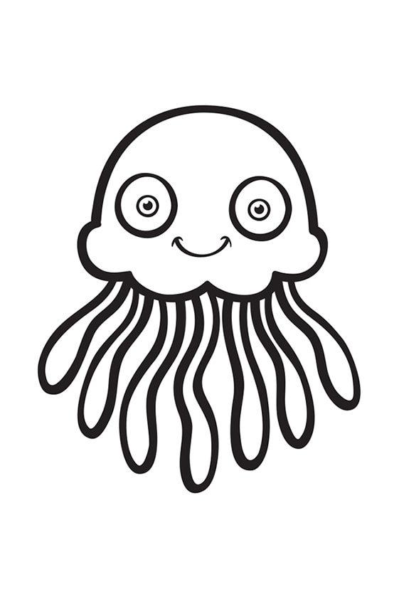 Раскраска Милая морская звезда | Подводный мир | Чудо ребенок