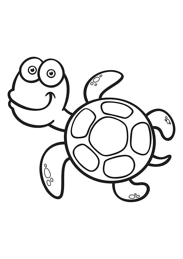 Раскраска Милая морская черепаха | Подводный мир | Чудо ...