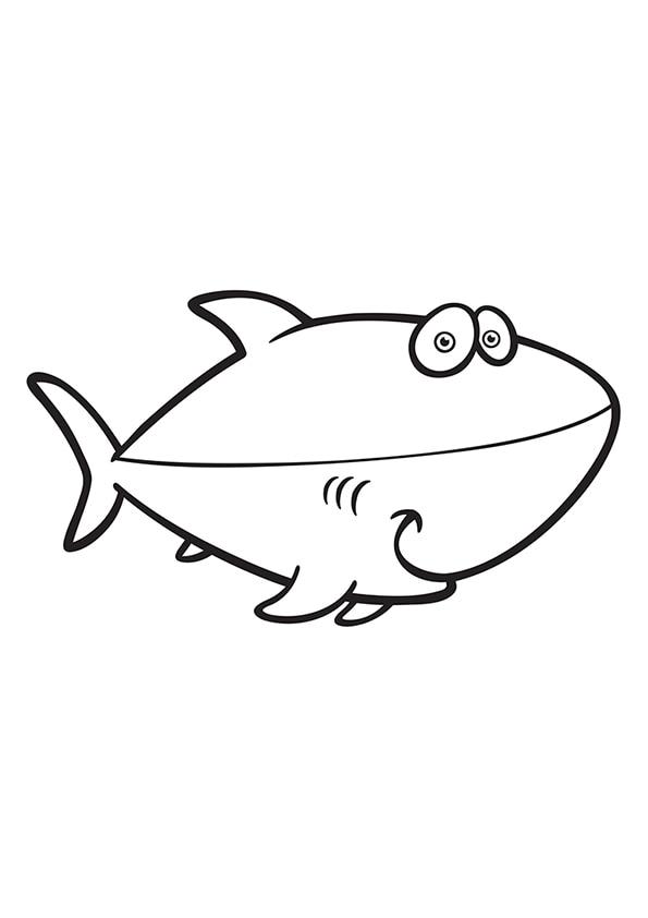 Раскраска Милая акула | Подводный мир | Чудо ребенок