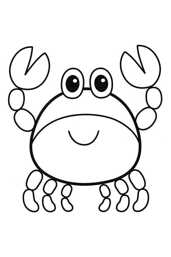 Раскраска Маленькая осьминожка | Подводный мир | Чудо ребенок