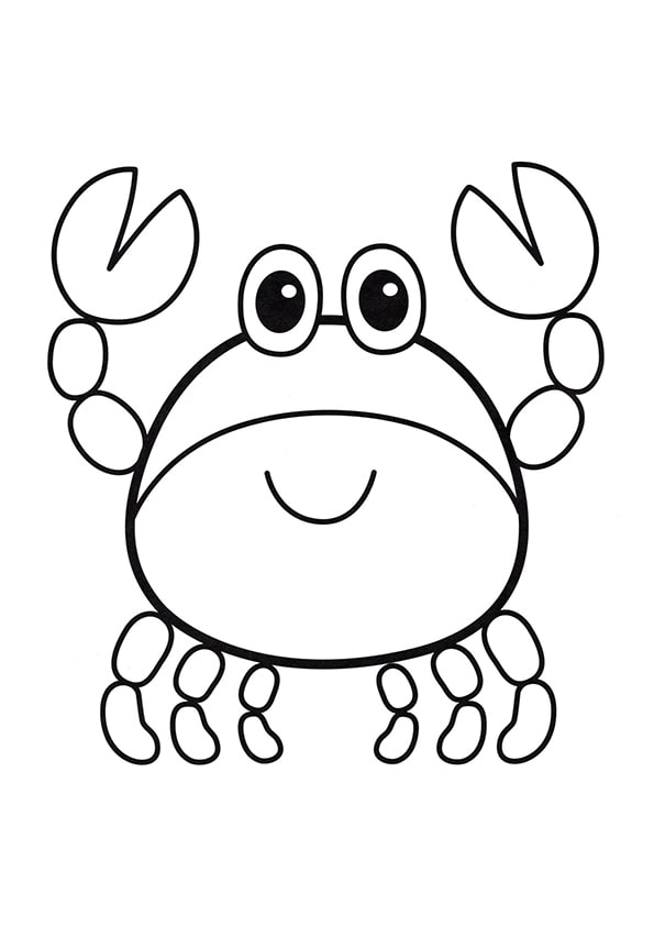 Раскраска Маленький крабик | Подводный мир | Чудо ребенок