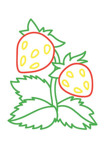Раскраска Клубника | Раскраски по цветам | Чудо ребенок