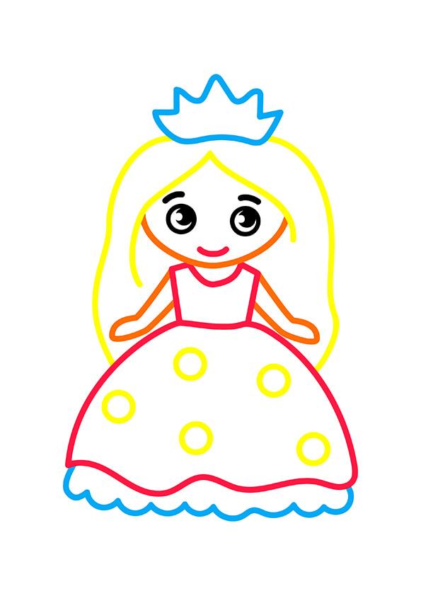 Раскраска Маленькая принцесса | Раскраски по цветам | Чудо ...